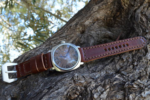 BROWN is one of our hand crafted watch straps. Available in brown color, 4 - 4.5 mm thick.