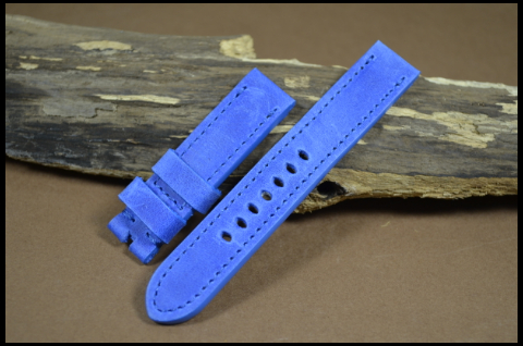 66 YOUNG STEER BLUE 20-20 130-80 MM is one of our hand crafted watch straps. Available in blue color, 4 - 4.5 mm thick.