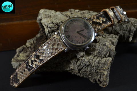 BEIGE SHINY is one of our hand crafted watch straps. Available in beige color, 4 - 4.5 mm thick.