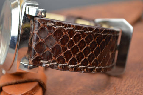 BROWN SHINY is one of our hand crafted watch straps. Available in brown color, 4 - 4.5 mm thick.