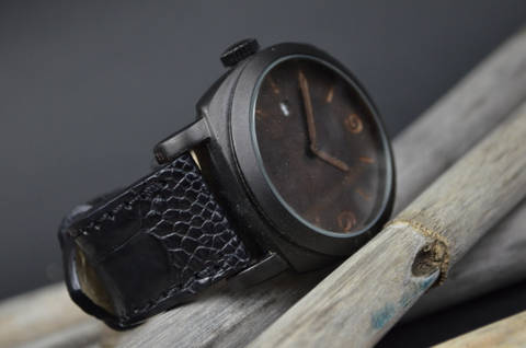 BLACK MATTE is one of our hand crafted watch straps. Available in black color, 4 - 4.5 mm thick.