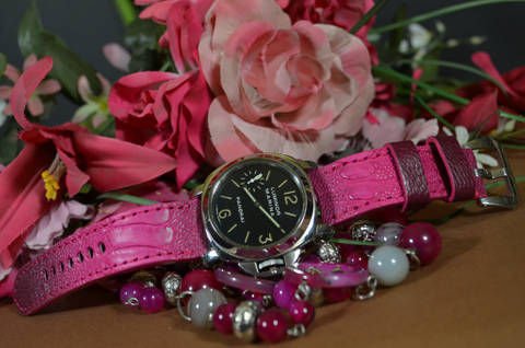 PINK MATTE is one of our hand crafted watch straps. Available in pink color, 4 - 4.5 mm thick.