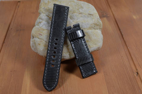 GREY SHINY is one of our hand crafted watch straps. Available in grey color, 3.5 - 4 mm thick.