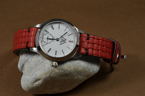 BRAIDY RED II is one of our hand crafted watch straps. Available in red color, 4 - 4.5 mm thick.