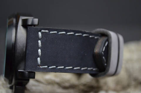 BLACK GREY is one of our hand crafted watch straps. Available in black grey color, 3.5 - 4 mm thick.