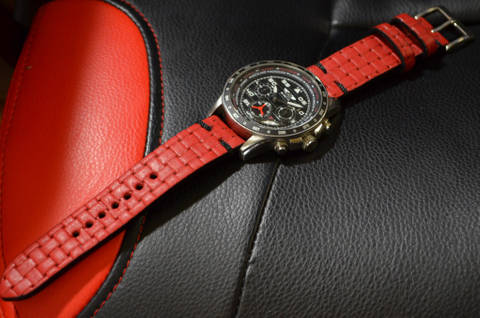 BRAIDY RED II is one of our hand crafted watch straps. Available in red color, 3 - 3.5 mm thick.
