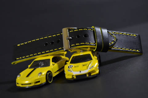 YELLOW is one of our hand crafted watch straps. Available in yellow color, 3 - 3.5 mm thick.