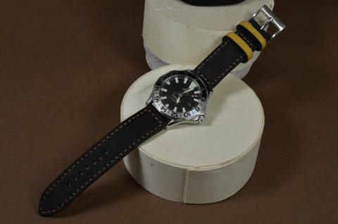 BLACK HAVANA is one of our hand crafted watch straps. Available in black havana color, 3 - 3.5 mm thick.