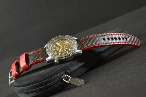 RED is one of our hand crafted watch straps. Available in red color, 3 - 3.5 mm thick.