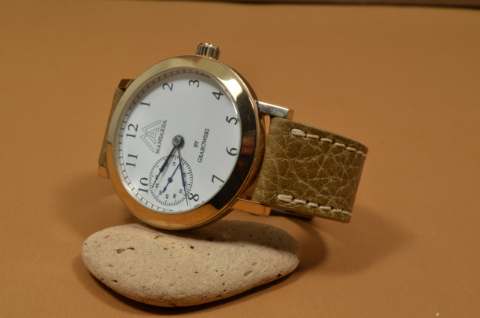 BEIGE I is one of our hand crafted watch straps. Available in beige color, 3 - 3.5 mm thick.