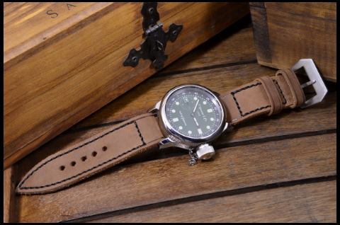 PUL HAVANA III is one of our hand crafted watch straps. Available in brown havana color, 4 - 4.5 mm thick.