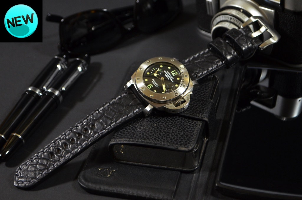 BLACK II ROUND SCALE is one of our hand crafted watch straps. Available in black color, 4 - 4.5 mm thick.